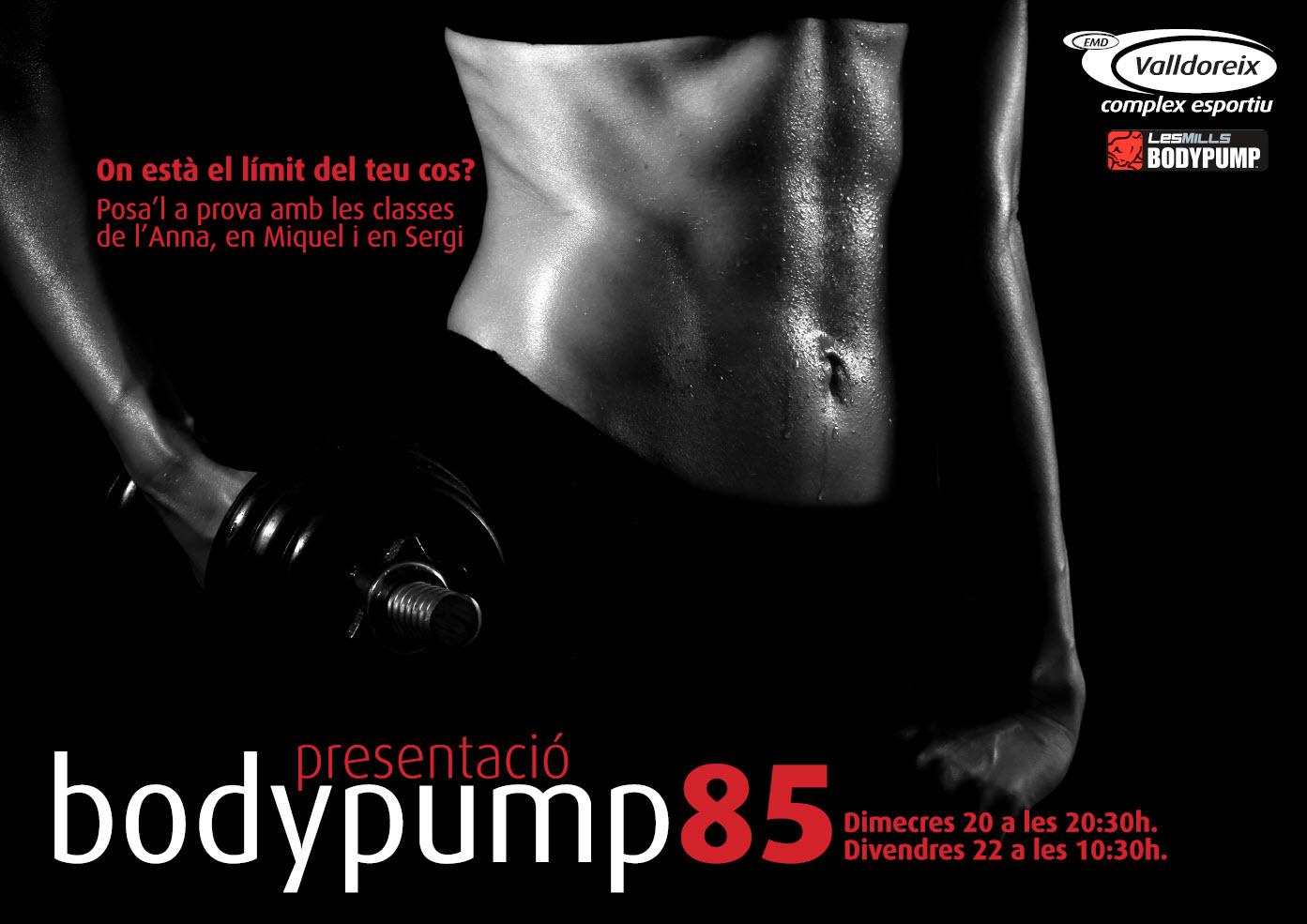 Presentación de la Body Pump 85 | Complex Esportiu EMD Valldoreix ...