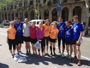 Participants del Complex Esportiu de Valldoreix a la cursa Bombers 2013