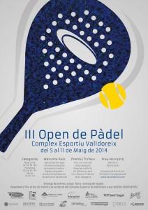 Cartell 3r Open de Pàdel